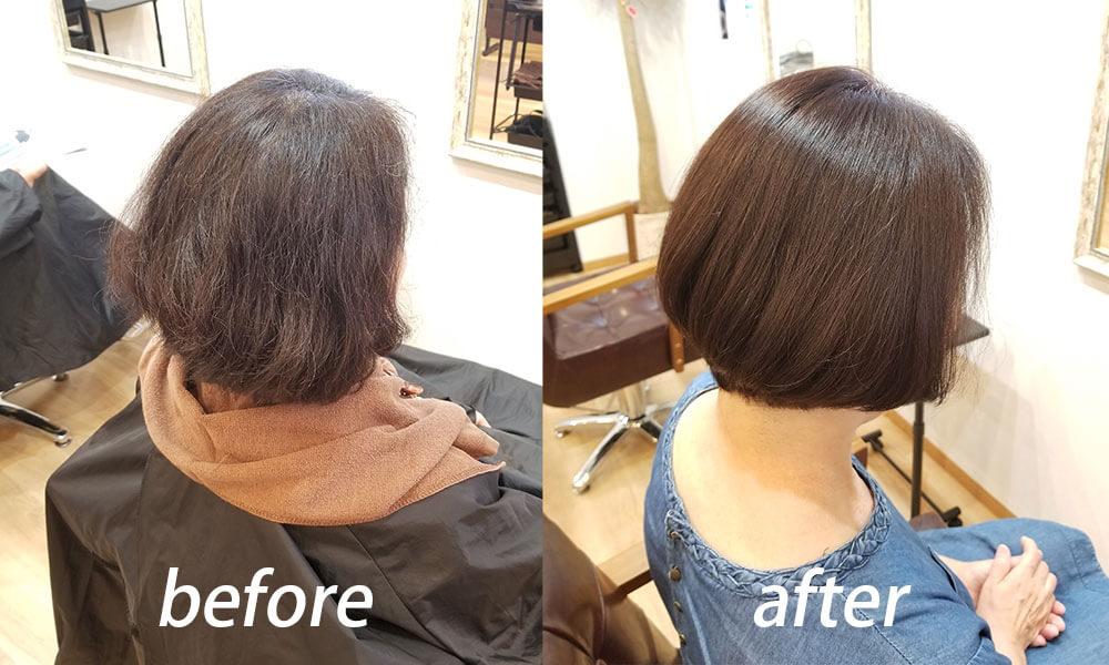 住吉区の美容室 | 髪のお掃除美容室LUMORE 髪の悩みを持つ女性に選ばれる理由1 10000人以上のデータから編み出した独自技術「髪のお掃除」老け髪を改善